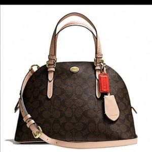 Coach Payton Cora domed leather satchel